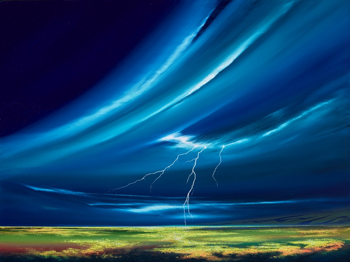 Lightning Landscape I by jonathan shaw -  sized 40x30 inches. Available from Whitewall Galleries